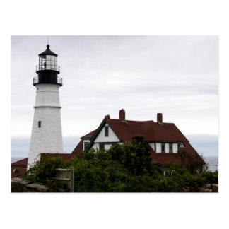 Portland helles Hauptlightouse Maine Postkarte