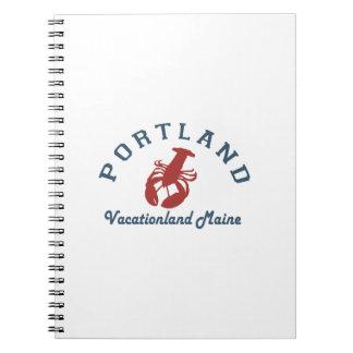Portland Maine (2) Spiral Notizblock