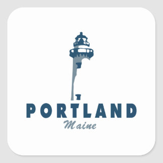 Portland Maine (5) Quadratischer Aufkleber