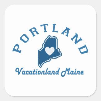 Portland Maine Quadratischer Aufkleber