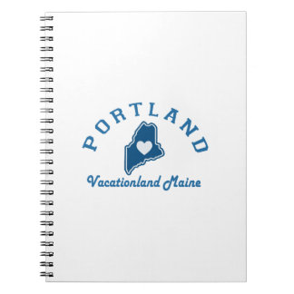 Portland Maine Spiral Notizblock