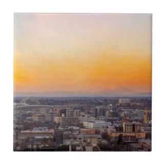Portland ODER Stadtbild und Mt-Heiliges Helens Keramikfliese