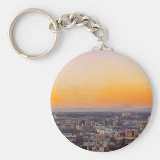 Portland ODER Stadtbild und Mt-Heiliges Helens Schlüsselanhänger