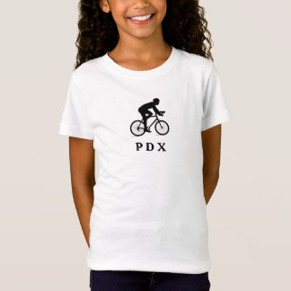Portland Oregon, das PDX Akronym radfährt T-Shirt