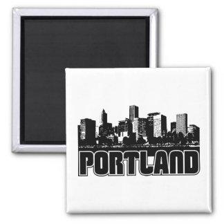 Portland-Skyline Quadratischer Magnet
