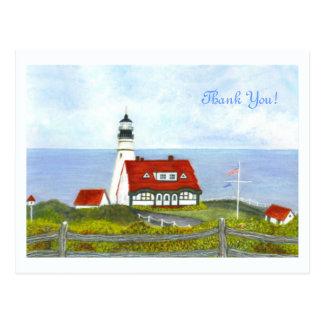 """Portlandhauptlicht """"eine Ansicht vom Hügel """" Postkarte"""