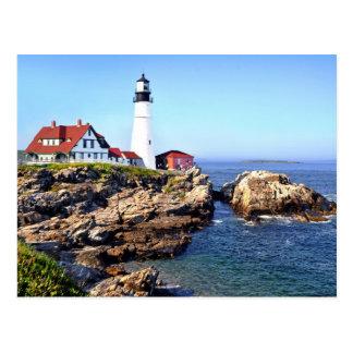 Portlandhauptlicht, Kap Elizabeth, Maine, USA Postkarte