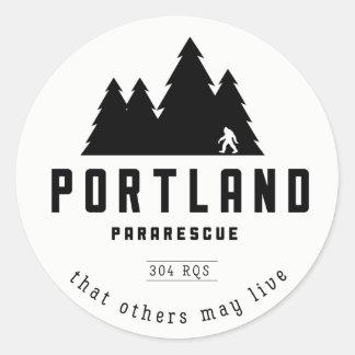 Portlandpararescue-Aufkleber Runder Aufkleber