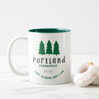 Portlandpararescue-Tasse Zweifarbige Tasse