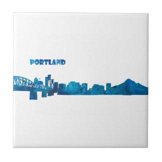 Portlandskyline-Silhouette Keramikfliese