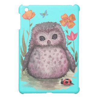 Portly lila Eule iPad Kasten iPad Mini Hülle