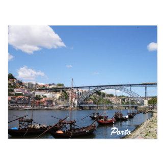 Porto durch den Duero-Fluss Postkarte