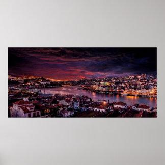 Porto-NachtSkyline Poster