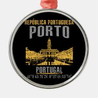 Porto Silbernes Ornament