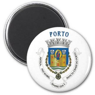 Porto-Stadt-Wappen Magneten Runder Magnet 5,7 Cm