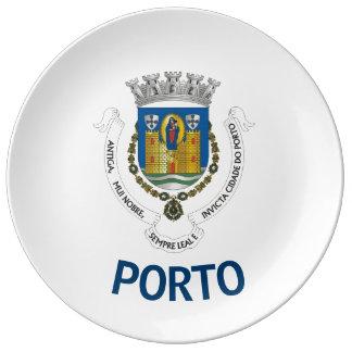 Porto-Wappen Kollektor-Porzellan-Platte Teller