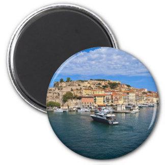 Portoferraio - Elba-Insel Runder Magnet 5,1 Cm