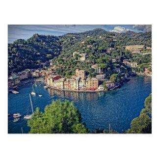 Portofino, Italien von der oben genannten Postkarte