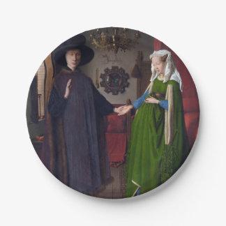 Porträt 1434 JAN.S VAN EYCK- Arnolfini Pappteller