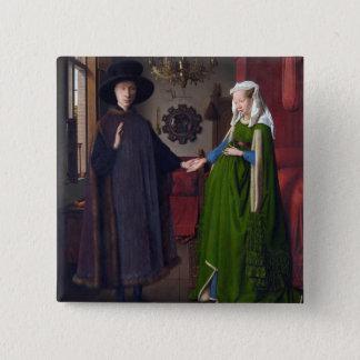 Porträt 1434 JAN.S VAN EYCK- Arnolfini Quadratischer Button 5,1 Cm