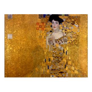 Porträt Adele Bloch-Bauers durch Gustav Klimt 1907 Postkarte