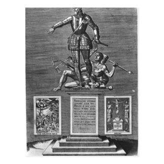 Porträt, das Ferdinand Alvarez von Toledo Postkarte