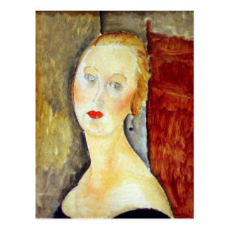 Porträt de Germaine Survage durch Amedeo Postkarte