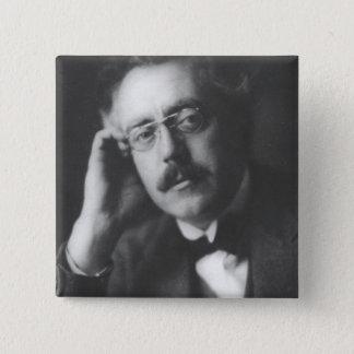 Porträt der Frank-Brücke (1879-1941) (b/w Foto) Quadratischer Button 5,1 Cm