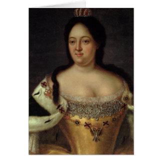 Porträt der Kaiserin Anna Ioannovna Karte