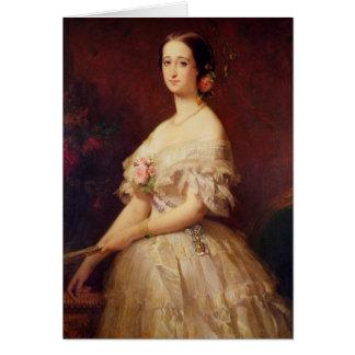 Porträt der Kaiserin Eugenie 1854 Karte