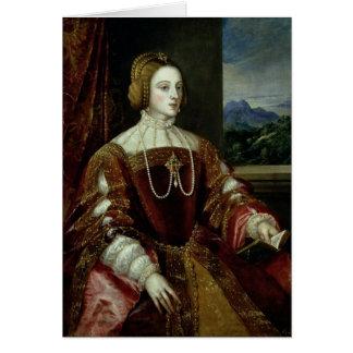 Porträt der Kaiserin Isabella von Portugal Karte