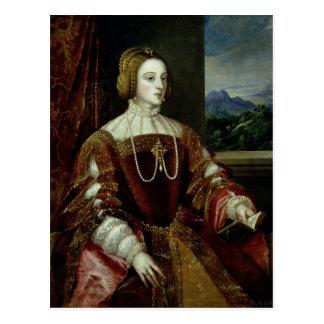 Porträt der Kaiserin Isabella von Portugal Postkarte