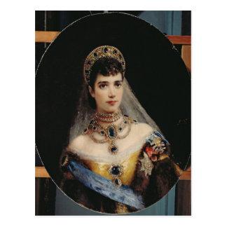Porträt der Kaiserin Maria Fyodorovna Postkarte