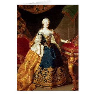 Porträt der Kaiserin Maria Theresa Karte
