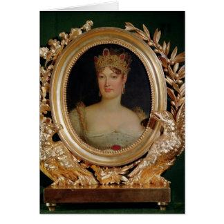 Porträt der Kaiserin Marie-Louise von Österreich Karte
