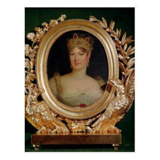 Porträt der Kaiserin Marie-Louise von Österreich Postkarte