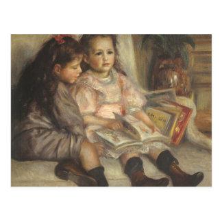 Porträt der Kinder, Renoir Vintager Postkarten
