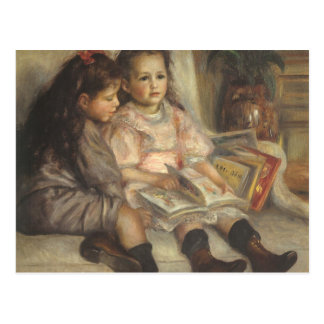 Porträt der Kinder Renoir Vintager Postkarten