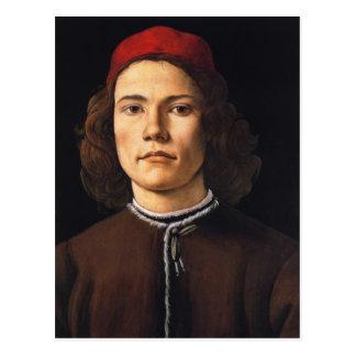 Porträt der Postkarte des jungen Mannes