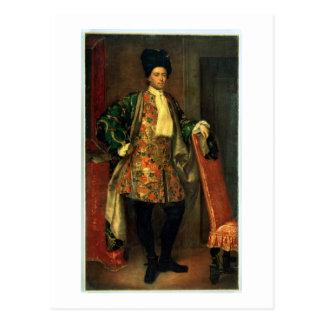Porträt der Zählung Giovanni Battista Vailetti Postkarte