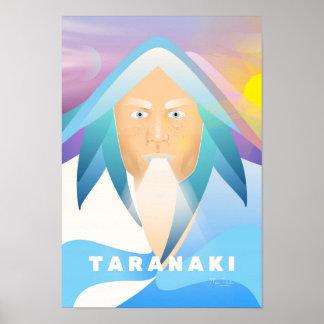 Porträt des Bergs Taranaki durch Manu Ander Poster