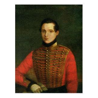 Porträt des Dichters Michail Lermontov Postkarte