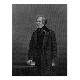 Porträt des Grafen von Derby Postkarte
