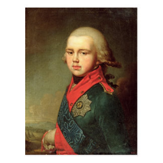 Porträt des Großherzogs Konstantin Pavlovich Postkarte