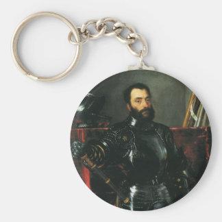 Porträt des Herzogs von Urbino durch Titian Schlüsselanhänger