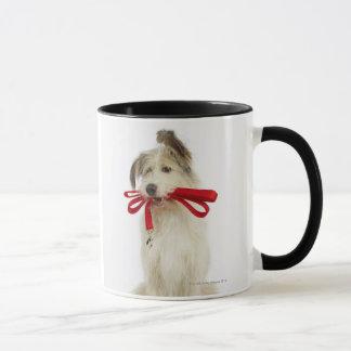 Porträt des Hundes mit Leine Tasse
