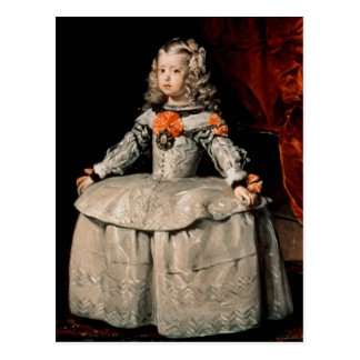 Porträt des Infanta Margarita gealtert fünf Postkarte