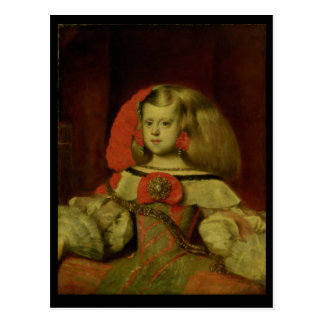 Porträt des Infanta Margarita Postkarte