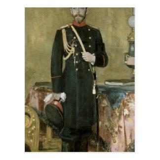 Porträt des Kaisers Nicholas II 1895 Postkarte