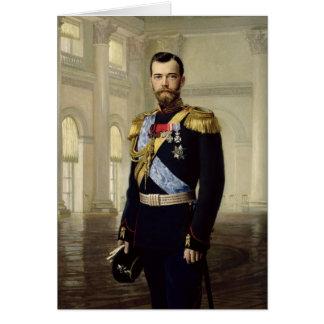 Porträt des Kaisers Nicholas II, 1900 Karte